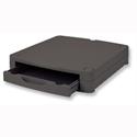 Monitor Screen Riser 67mm Stackable 1 Drawer Black