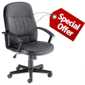 High Back Manager Office Chair With Arm Leather Trexus OFFER
