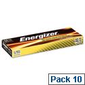 Energizer Industrial Battery Long Life LR6 1.5V AA 636105 Pack 10