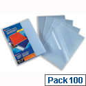 GBC Recyclable A4 Binding Covers 200 micron Clear Frosted Pack 100
