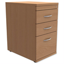 Trexus Filing Pedestal Desk High Soft Close 3 Drawers W400xD600xH725mm Beech