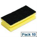 Sponge Back Scourer 140x70x40mm Pack 10