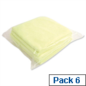 Yellow Microfibre Cleaning Cloths Pack 6 Bentley