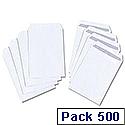 White Box C5 Envelopes Pocket Press Seal 100gsm White Pack 500