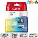 Canon PG-540/CL-541 Page Life 180pp Black and Colour Ref 5225B006 [Pack 2]