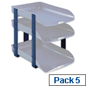 Rexel Agenda2 Blue Stackable Risers Pack 5 2101020