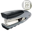 Rexel Centor Half Strip Stapler Vertical 65mm Throat Capacity 20 Sheets Silver/Black