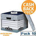Fellowes Bankers Box System Archive Storage Box 00810-FF Pack 10