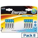 Energizer High Tech 1.5V AAA Alkaline Battery LR03 Pack 8