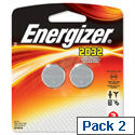Energizer CR2032 Battery Lithium 3V Pack 2