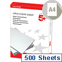 A4 Value 80gsm White Multifunctional Printer Paper 500 Sheets 5 Star