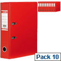Elba Lever Arch File Red A4 PVC Pack 10