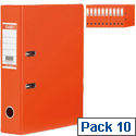 Elba Lever Arch Files Orange A4 PVC Pack 10