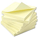 White Box Repositionable Notes 3x3 Yellow Pack 12
