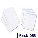 White Box C5 Envelopes Pocket Press Seal 90gsm White Pack 500