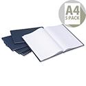 Whitebox A4 Manuscript Book Ref NU003242 [Pack 5]