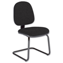 Trexus Office Medium Back Visitors Chair Charcoal