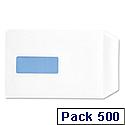 White Box C5 Window Envelopes Pocket Press Seal 90gsm White Pack 500