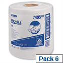 Wypall L10 White Centrefeed Cleaning Roll Wipers Airflex 500 Sheets per 206 x 380 7025 Pack 6