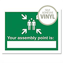Stewart Superior Your Assembly Point Is Sign Write On Self Adhesive Vinyl 200x150mm