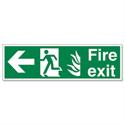 Stewart Superior Fire Exit Man Arrow Left Self Adhesive Sign Standard PVC
