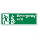 Stewart Superior Fire Exit Man Arrow Down Self Adhesive Vinyl Sign Standard
