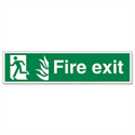 Stewart Superior Fire Exit Man Left PVC Self Adhesive Sign Standard