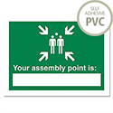 Stewart Superior Your Assembly Point Is Sign Write on Semi Rigid Self Adhesive 200x150mm