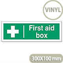 First-Aid Box Self Adhesive Vinyl Sign 300x100mm Stewart Superior