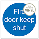 Stewart Superior Fire Door Keep Shut 100x100mm Self Adhesive Vinyl Sign (Pack of 5)