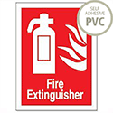 Stewart Superior Fire Extinguisher Self Adhesive PVC Sign 150x200mm