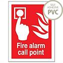 Stewart Superior Fire Alarm Call Point Self Adhesive PVC Sign 150x200mm