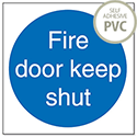 Stewart Superior Fire Door Keep Shut 100x100mm Self Adhesive PVC Sign (Pack of 5)