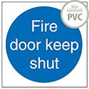 Stewart Superior Fire Door Keep Shut 100x100mm Self Adhesive PVC Sign (Pack of 5)