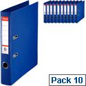 Esselte Mini Lever Arch File Blue A4 Pack 10