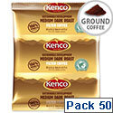 Kenco Filter Coffee 50 Sachets for 150 pints with Filter Paper A03211