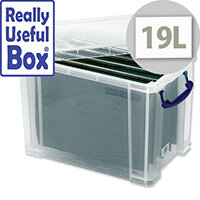 Filing Box Plastic 19 Litre with 10 A4 Suspension Files Really Useful