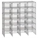 Mailsorter Adjustable Plastic-Coated Steel 24 Compartments Grey Versapak