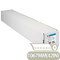 HP C6567B White Coated Plotter Paper 1067mm x 45.7m Roll 90gsm