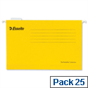 Esselte Pendaflex Economy Suspension File Foolscap Yellow Pk 25