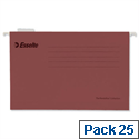 Esselte Pendaflex Economy Suspension File Foolscap Red Pk 25