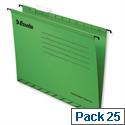 Esselte Pendaflex Economy Suspension File Foolscap Green Pk 25 90337
