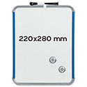 Nobo SlimLine Whiteboard Magnetic 220 x 14 x 280mm White/Blue