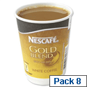 Nescafe & Go Gold Blend White Coffee Foil-sealed Cup for Drinks Machine A02781 Pack 8