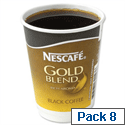 Nescafe Gold Blend Black Coffee Foil-sealed Cup for Drinks Machine A02782 Pack 8