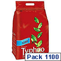 Typhoo Tea Bags Vacuum Packed One Cup Pack 1100
