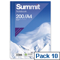 A4 Wirebound Notebook Punched Perforated 100 Pages Pack 10 Summit