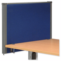 Trexus Plus Flat Top Screen Desktop W800xD52xH480mm Royal Blue 756910