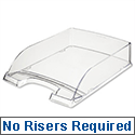 High Sided Letter Tray Clear