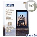 "Epson 5x7"" Glossy Photo Paper Premium (Pack of 30)"